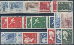 Schweden: 1955/1959, Mostly Complete Year Sets Mint Never Hinged: 1955 - 70 Sets (without 25 Ö Defin - Schweden