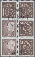 Schweden: 1961/1995, BOOKLET PANES: Accumulation With About 2.660 Complete Booklet Panes In 34 Types - Schweden