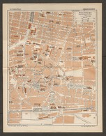 CARTE PLAN 1928 - MULHOUSE CENTRE BOURSE BANQUE DE FRANCE FORCES MOTRICES DU HAUT RHIN - Carte Topografiche