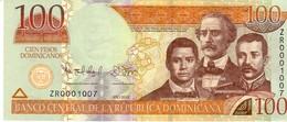 Dominican Republic  P.184b  100 Pesos 2012 Unc - Dominicana