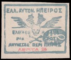 Grecia - Insorti Dell'Epiro (insorti Di Chimarra) 1914  / 25 L (B) - Epirus & Albania