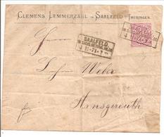 Ra3 SAALFELD/IN SACHS.MEINING.HILDB. 4.11.71 & 6.11.71 !! - Norddeutscher Postbezirk (Confederazione Germ. Del Nord)
