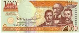 Dominican Republic  P.184b  100 Pesos 2013 Unc - Dominicana