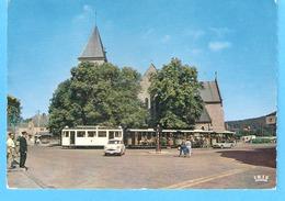 Han-sur-Lesse (Rochefort-Belgique)-écrite En 1957-Départ Du Tram Vers La Grotte-Vintage Cars-SIMCA ARONDE-TRIUMPH TR4 - Rochefort