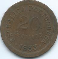 Guinea-Bissau / Portuguese - 1933 - 20 Centavos - KM3 - Guinea-Bissau
