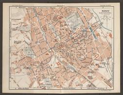 CARTE PLAN 1927 - NANCY CURE D'AIR St ANTOINE DOCKS CROIX GAGNEE PEPINIERE INSTITUT CHIMIQUE - Cartes Topographiques