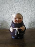 &ECLAT SOCLE Côté& FIGURINE MOINE GOEBBEL W. GERMANY - SALIERE 6cm - CERAMIQUE (ville Non Identifié) - Ceramica & Terraglie