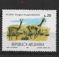 ARGENTINA  1984 Protected Animals  * Vicugna (Lama Vicugna) - Usados