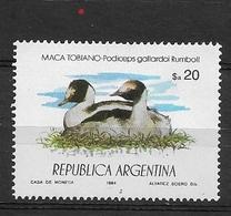 ARGENTINA  1984 Protected Animals  * Penelope Jacutinga Spix, 1825; Aburria Jacutinga - Usados