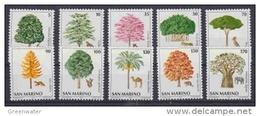 San Marino 1979 Nature/ Trees 10v ** Mnh (43042F) - San Marino
