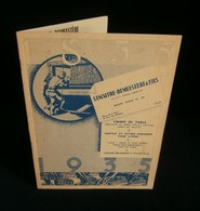 ( Industrie Textile Halluin Lille ) Catalogue LEMAITRE-DEMEESTERE Et Fils 1935 Linges De Table Coutils Et Satins Damassé - Textile & Vestimentaire