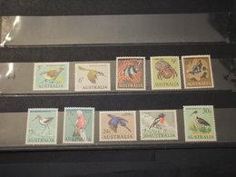 AUSTRALIA - 1966/70 UCCELLI 10 VALORI - NUOVO (++) - 1966-79 Elizabeth II