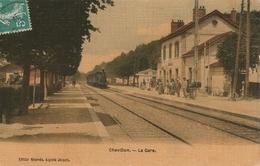 Chevillon,la Gare,carte Toilée,timbrée ,écrite - Chevillon