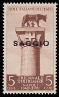 ITALIA - Isole Egeo: Rodi / Emissioni Generali - Mostra Triennale D'Oltremare 5 C. Bruno - 1940 / SAGGIO - Dodecanese