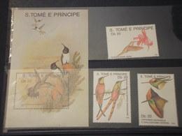 S. TOME E PRINCIPE - 1989 COLIBRI' 3 VALORI + BF - NUOVI (++) - Sao Tomé E Principe