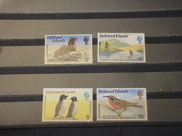 FALKLAND - 1976 FAUNA 4 VALORI - NUOVI (++) - Falkland