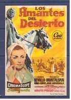 Programa Cine. Los Amantes Del Desierto. Carmen Sevilla. 1957. Espana. Italia. Sello Cine Alcazar. Tanger. Marruecos. - Affiches & Posters
