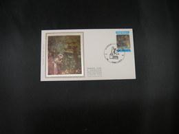 """BELG.1982 2070 FDC Zijde/soie (Tournes) : """" Sint Franciscus Van Assisi / Saint Francois D'Assisi """" """" - 1981-90"""