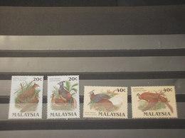 MALAYSIA 1986 UCCELLI 4 VALORI - NUOVI (++) - Malesia (1964-...)
