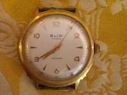 Montre Bracelet De Marque ELIX EB. SUISSE , Incabloc Plaqué ,  Mécanique , Fonctionne - Montres Anciennes