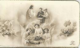 SANTINO SERIE EB 66 -RICORDO DEL MATRIMONIO -SAN ROCCO DI BUSSETO 1946 - Santini