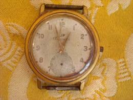 Montre Bracelet De Marque LIP SOUVERAINE , Plaqué Ancien , Mouvement à Revoir - Montres Anciennes
