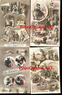 """THEME MILITARIA  - HUMOUR - POILUS GUERRE 1914-18 - """" Lot De 7 CPA écrites Ou Non écrites """" - Humour"""