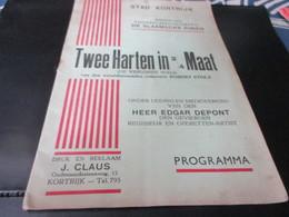 Kortrijk Programma Stad Kortrijk Koninklijke Toneel Maatschappij De Vlaamsche Zonen, - History
