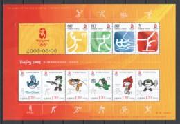 China 2007 Kleinbogen Mi  3782-3785 + Mi 3880-3885 MH SUMMER OLYMPICS BEIJING - Summer 2008: Beijing