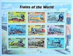 Mongolia 2000**Mi.3244-52  Trains , MNH [17;44] - Treinen
