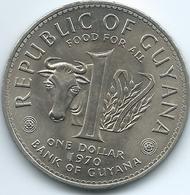 Guyana - 1970 - 1 Dollar - FAO / Proclamation Of Republic - KM36 - Guyana