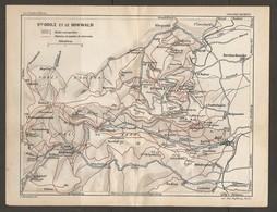 CARTE PLAN 1928 - Ste ODILE Et Le HOHWALD ROUTE CARROSSABLES CHEMINS Et SENTIERS DE TOURISTES - Topographical Maps