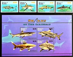 # Antigua & Barbuda 2010**Mi.4755-62. Sharks , MNH [13;123] - Fische