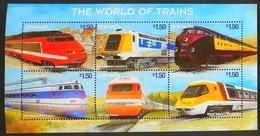 Grenada 1999** Mi.3878-83Trains ,MNH [4;42,67/6;42,36,22] - Treinen