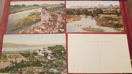 CHINA , 3 Postcards Lot  - Old PC 1950s - Cina