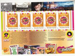 Nederland 2019 Persoonlijke Zegel PostNL: 50 Jaar Pinkpop, Sheet - 2013-... (Willem-Alexander)