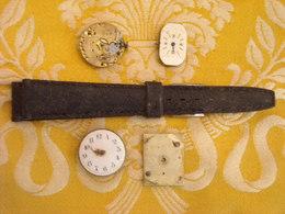 Lot Pièces Et Mouvements Pour Montres Bracelet - Montres Anciennes
