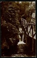 Ref 1298 - 1924 Real Photo Postcard - In Groudle Glen - Isle Of Man - Douglas Krag Postmark - Isle Of Man