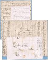 2 Lettres De SEGRAIS 1843 Cachet ECOMOY Pour CAEN  Inspecteur Du Trochet - 1801-1848: Précurseurs XIX