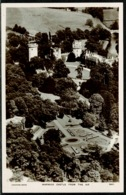 Ref 1298 - Aerial Real Photo Postcard - Warwick Castle From The Air - Warwickshire - Warwick
