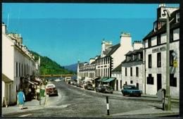 Ref 1298 - Postcard - Cars & George Hotel - Main Street Inveraray - Argyllshire Scotland - Argyllshire