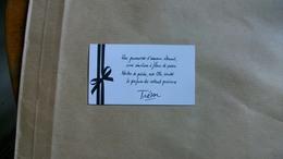 Carte Parfumée Lancome  Trésor - Modernes (à Partir De 1961)