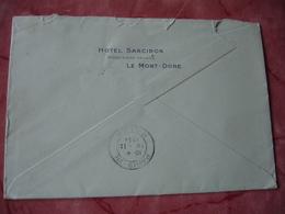 Hotel Sarciron Le Mont Dore Enveloppe Commerciale - 1900 – 1949