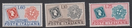 Italy Republic S 672-674 1951 Centenary Of Sardinia First Stamp, Mint Hinged - 1946-60: Mint/hinged