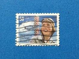 1996 STATI UNITI USA JACQUELINE PIONEER PILOT 50 C FRANCOBOLLO USATO STAMP USED - Usati