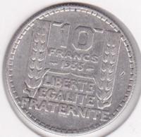 10 Francs Turin 1933 , En Argent - France