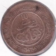 Maroc. 10 Mazunas (Mouzounas) HA 1321 (1903) FEZ. 2e Type. Abdul Aziz I - Morocco