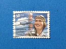1996 STATI UNITI USA JACQUELINE COCHRAN PIONEER PILOT 50 C FRANCOBOLLO USATO STAMP USED - Usati