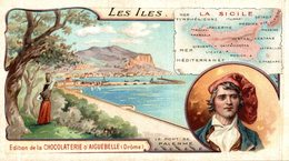 CHROMO CHOCOLATERIE D'AIGUEBELLE LES ILES LA SICILE LE PONT DE PALERME - Aiguebelle