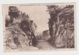 OR034 - SCLOS DE CONTES - Environs De Nice - Route Touristique Au Col De Calaisson - Voiture Ancienne - Altri Comuni